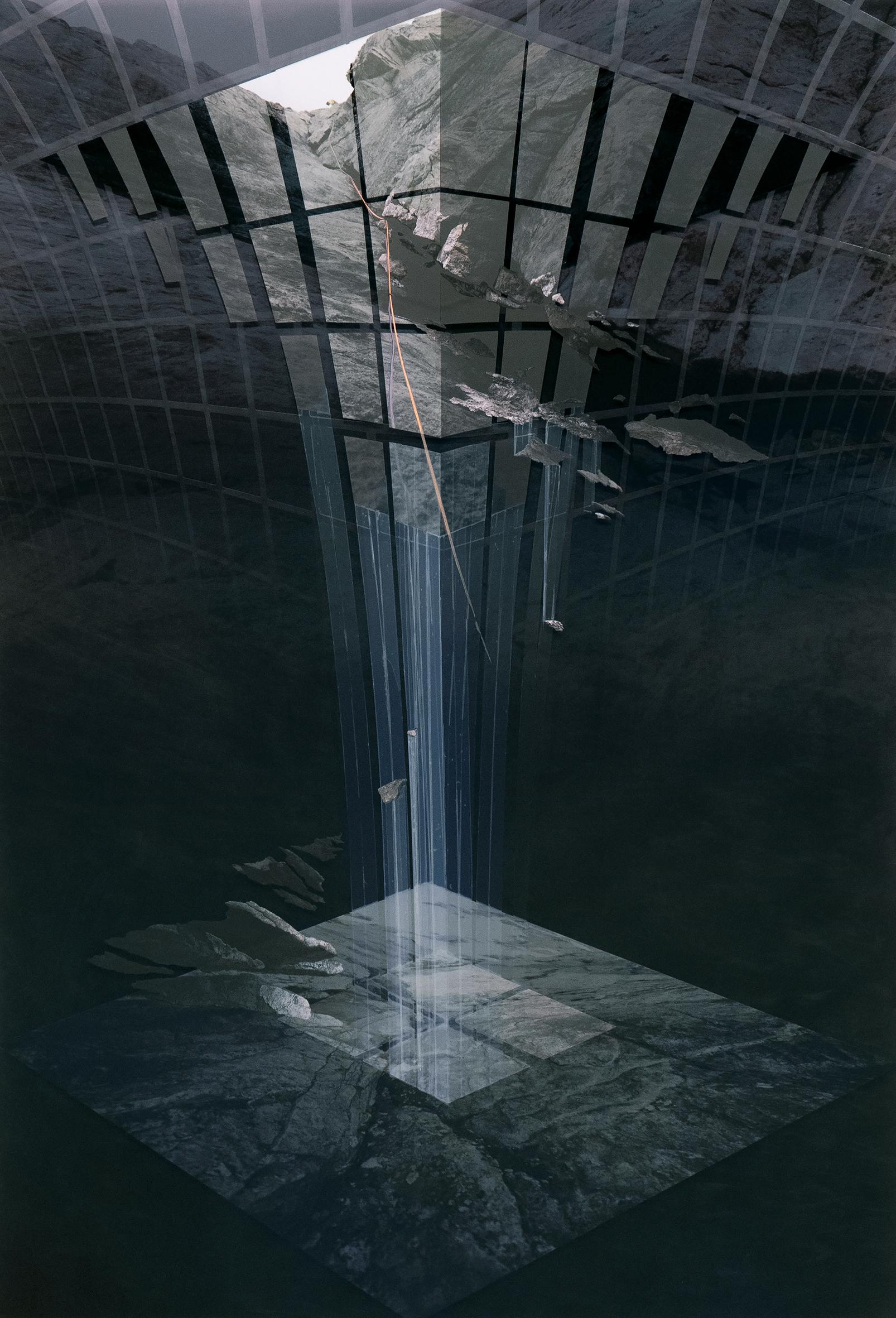dreidimensionale Collage zum Thema Zeit